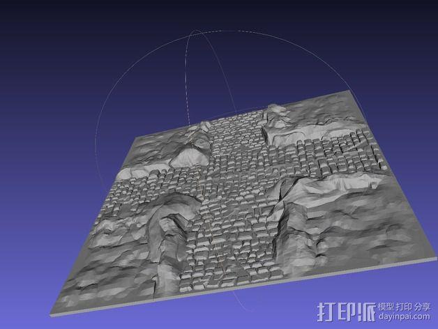 十字路口地形图 3D模型  图1