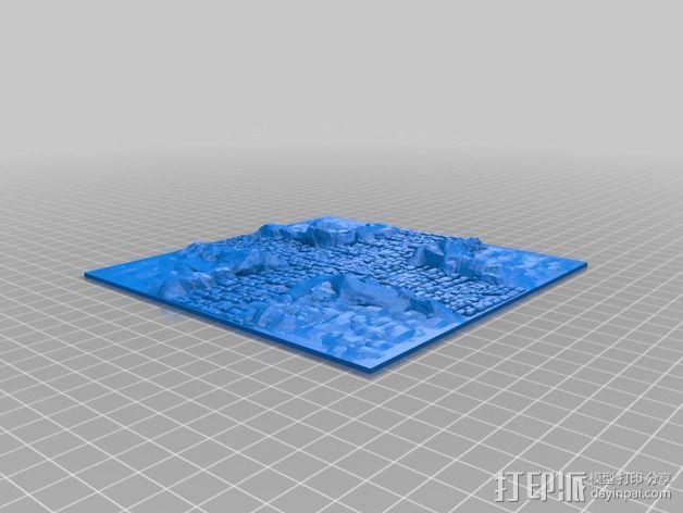 十字路口地形图 3D模型  图2