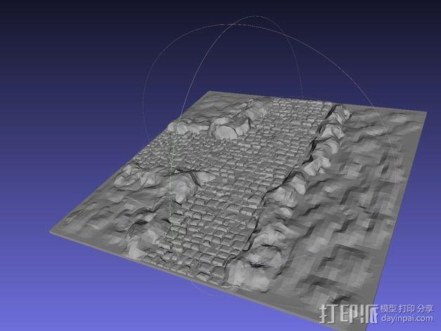 十字路口地形图 3D模型  图4