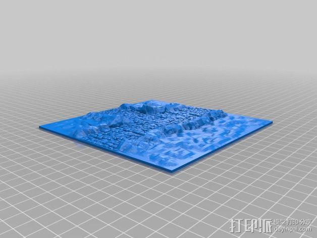 十字路口地形图 3D模型  图3