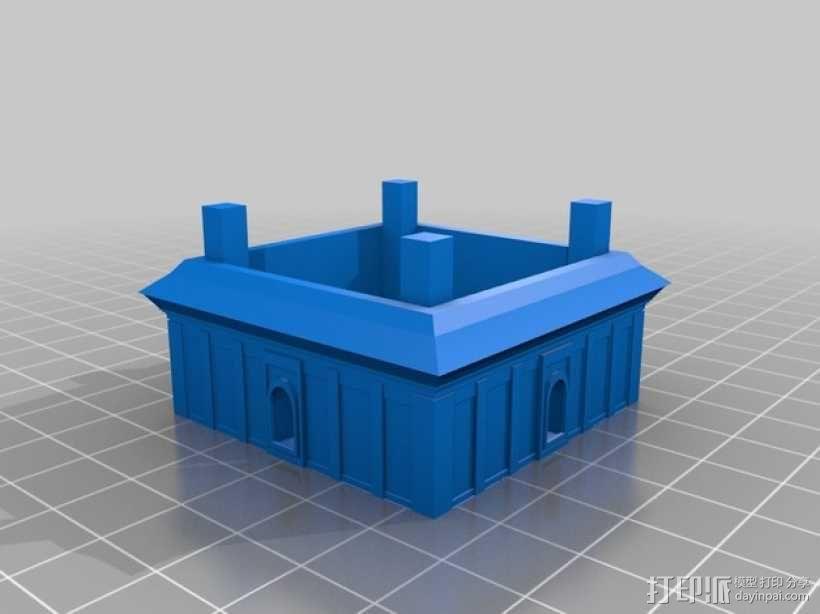 大雁塔 3D模型  图5