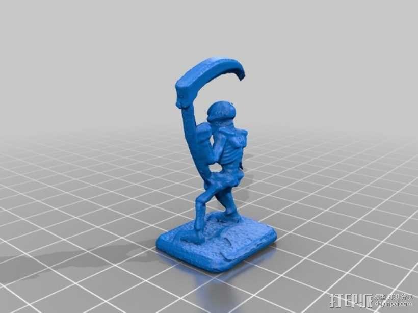 拿镰刀的骷髅人 3D模型  图2