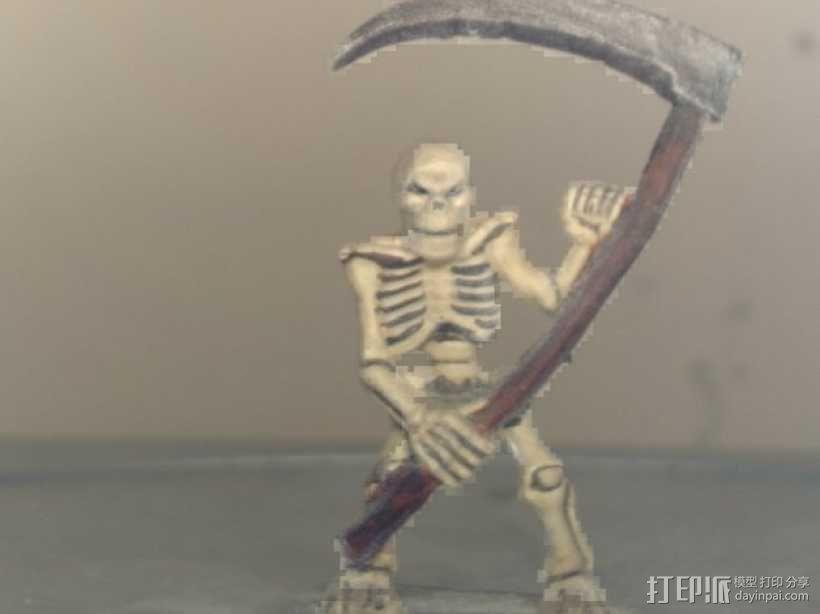 拿镰刀的骷髅人 3D模型  图1