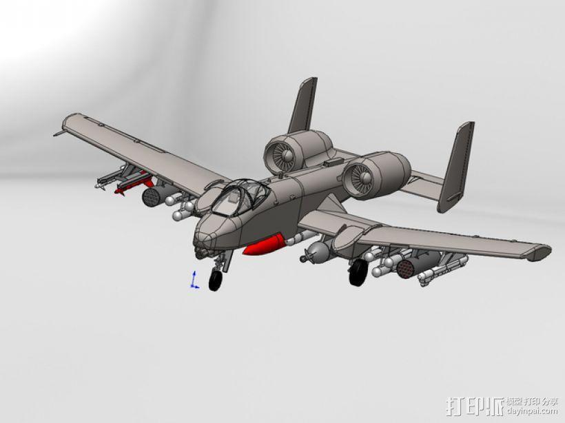 """费尔柴尔德A-10""""雷电Ⅱ式""""攻击机 3D模型  图1"""