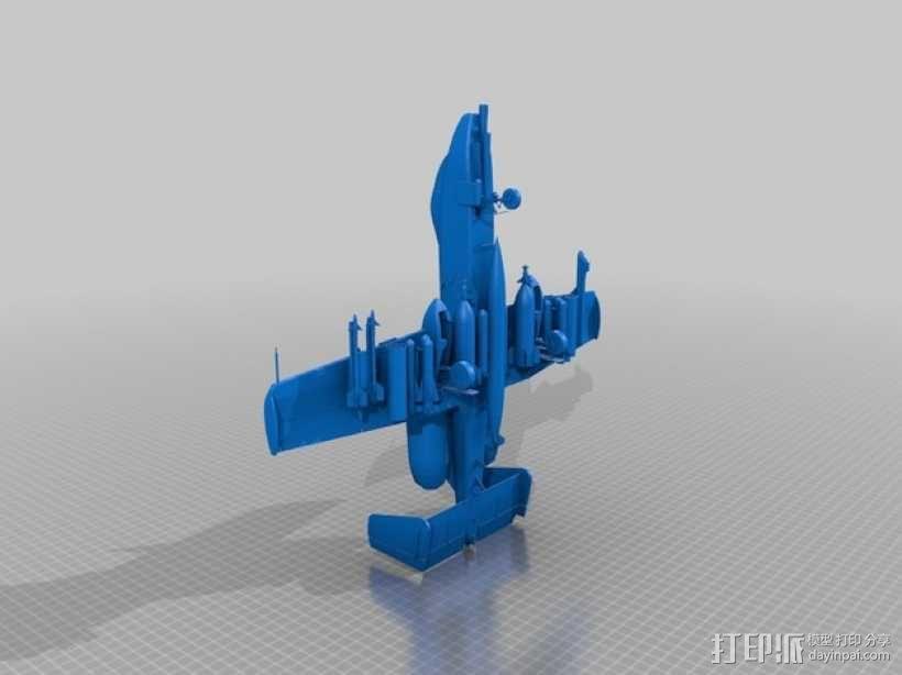 """费尔柴尔德A-10""""雷电Ⅱ式""""攻击机 3D模型  图2"""