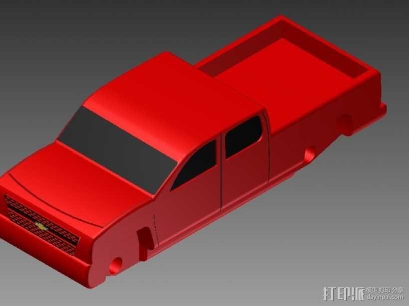 Chevrolet Silverado雪佛兰卡车 3D模型  图1