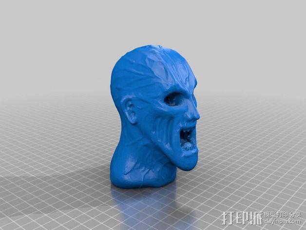 僵尸头部模型 3D模型  图1