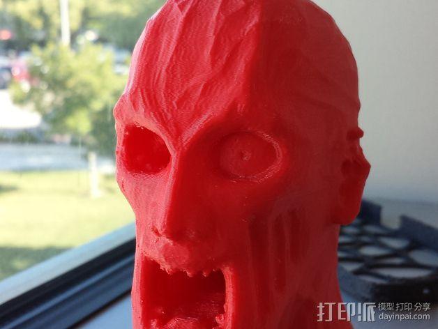 僵尸头部模型 3D模型  图2
