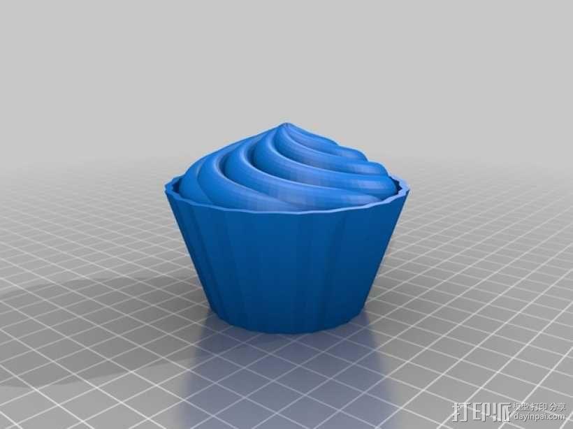 纸杯蛋糕 杯型蛋糕 3D模型  图1