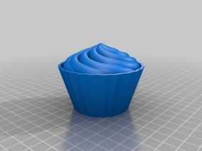 纸杯蛋糕 杯型蛋糕 3D模型