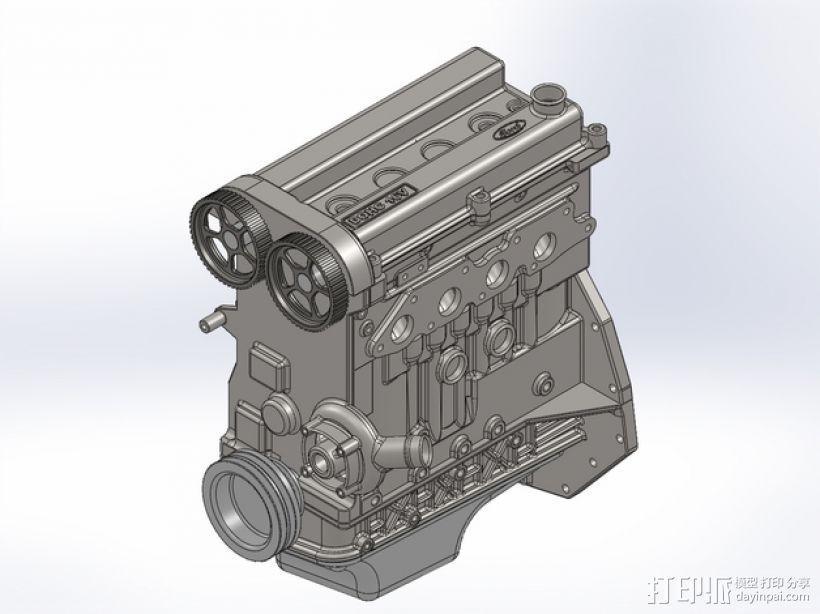 Ford Zetec 发动机  3D模型  图1