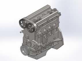 Ford Zetec 发动机  3D模型