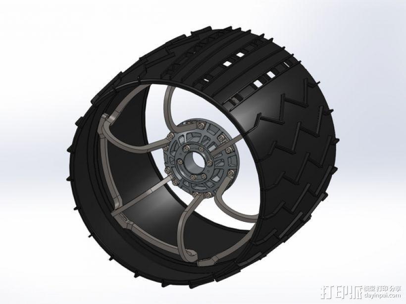 火星车车轮 3D模型  图1