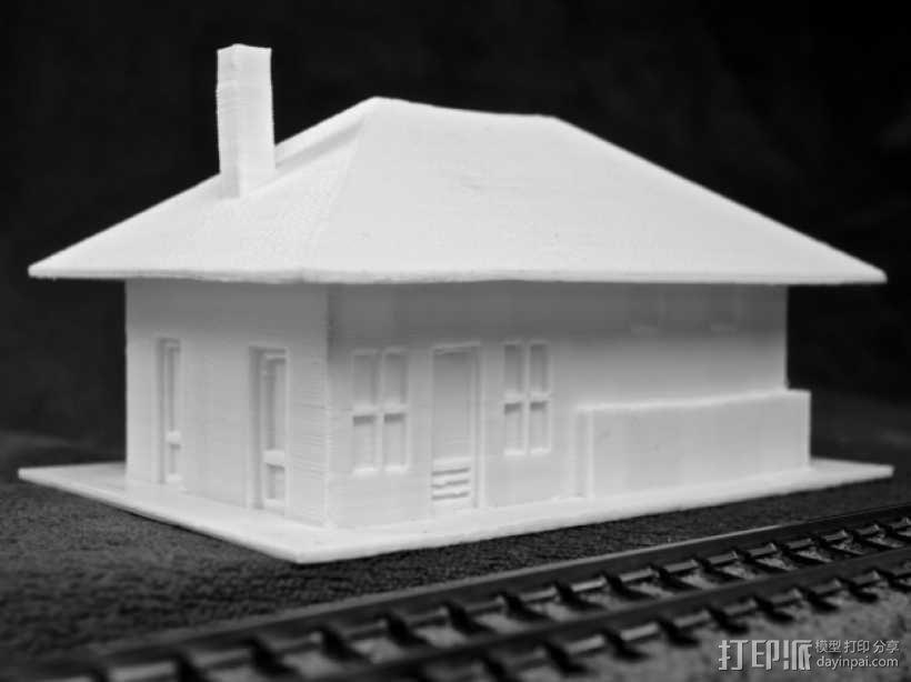 Dante火车站 3D模型  图1