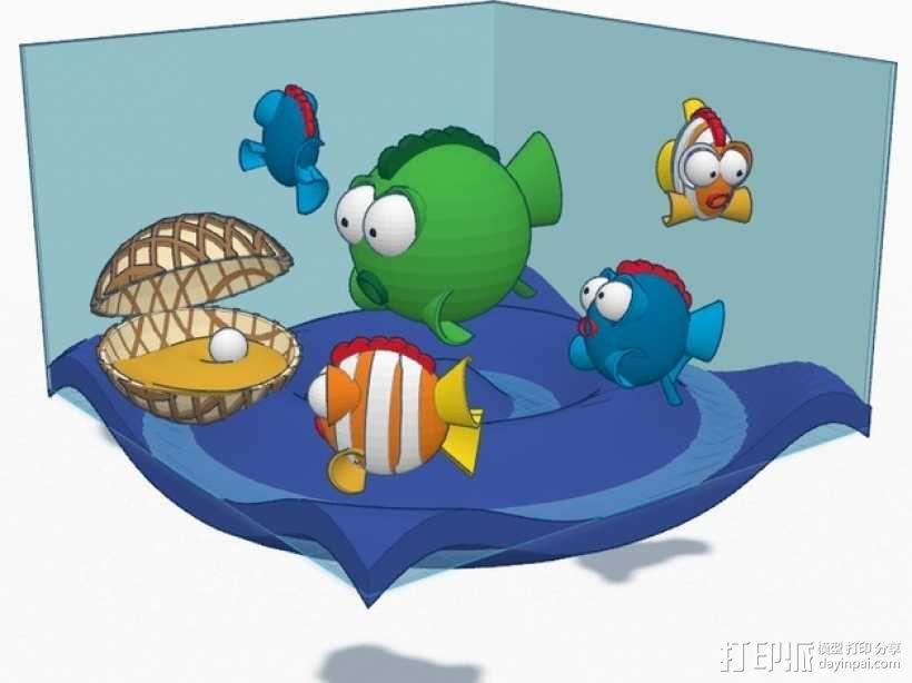 鱼 小鲭鱼 3D模型  图1