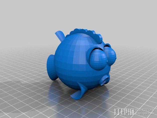 鱼 小鲭鱼 3D模型  图3