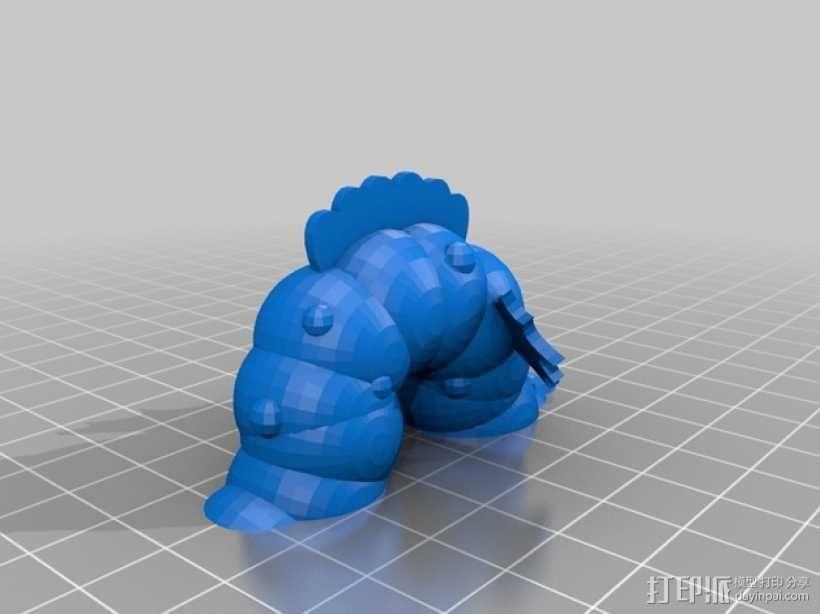 Fabulous Hillar海怪 3D模型  图3