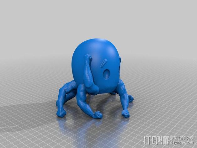 健壮的章鱼 3D模型  图2