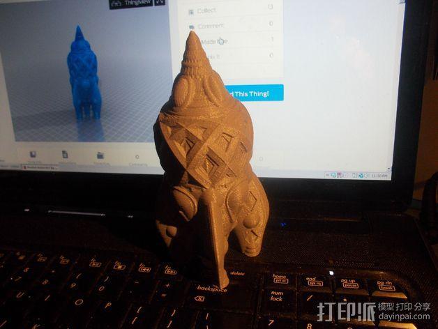 复古火箭 3D模型  图2