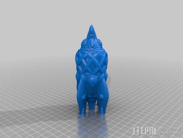 复古火箭 3D模型  图4