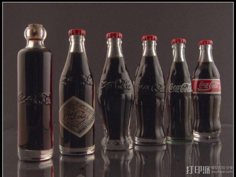 可乐瓶 3D模型  图1