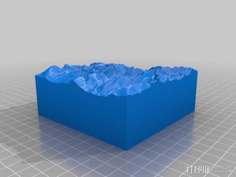 惠特尼山 地形模型 3D模型  图2