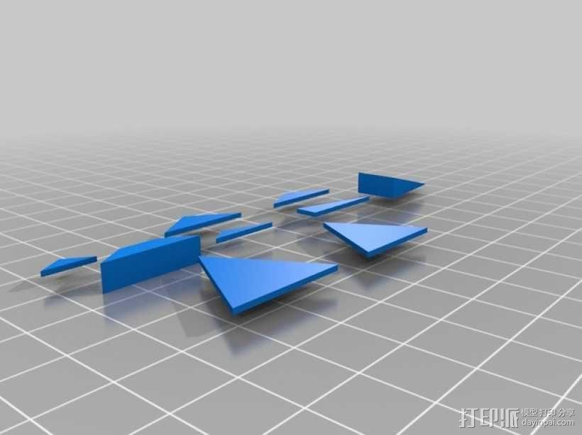 三角形 梯形 3D模型  图1