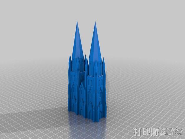 科隆大教堂 3D模型  图2