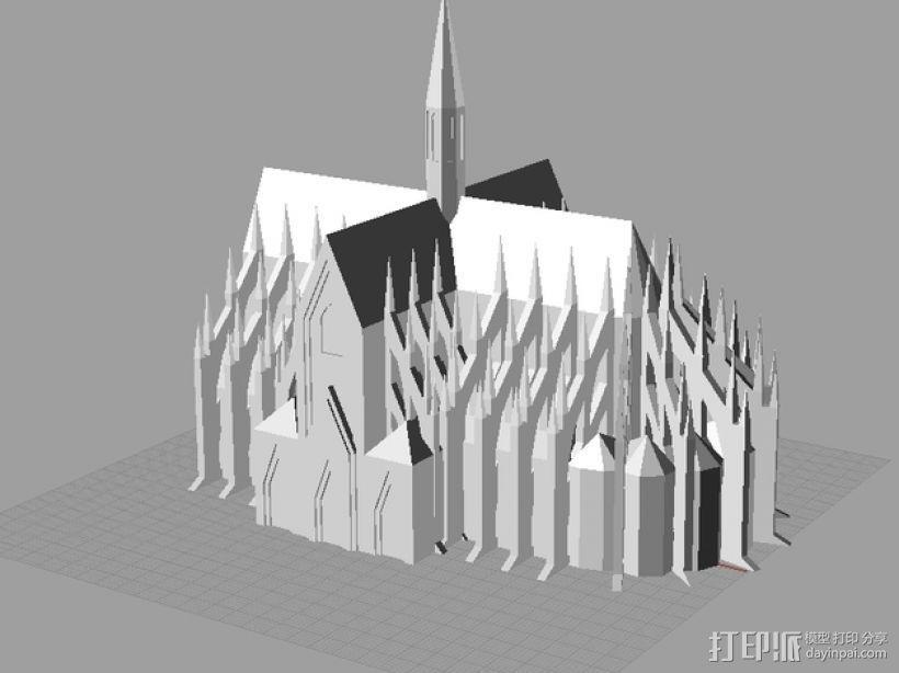 科隆大教堂 3D模型  图4