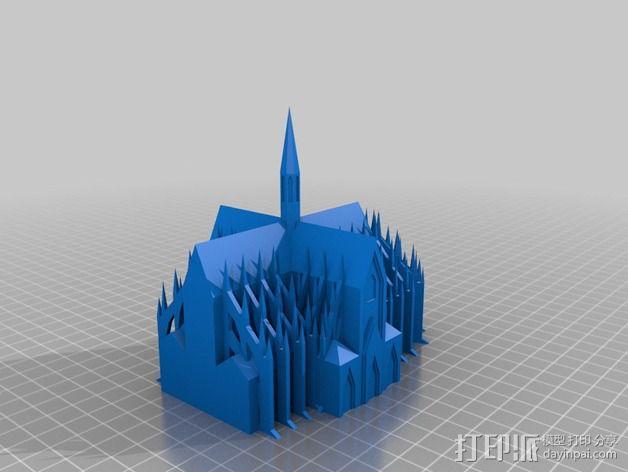 科隆大教堂 3D模型  图3