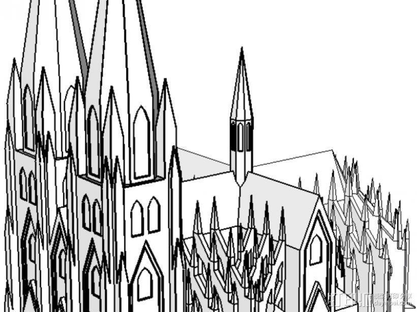 科隆大教堂 3D模型  图6