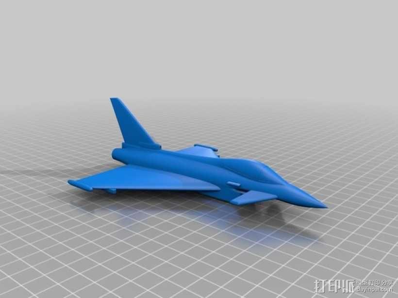 Eurofighter_Typhoon战斗机 3D模型  图1