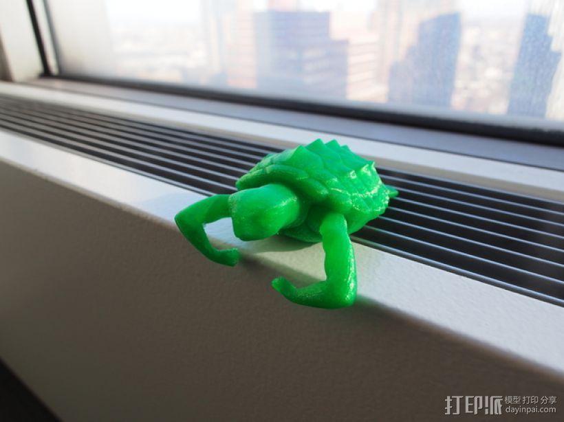 健壮的海龟 3D模型  图1
