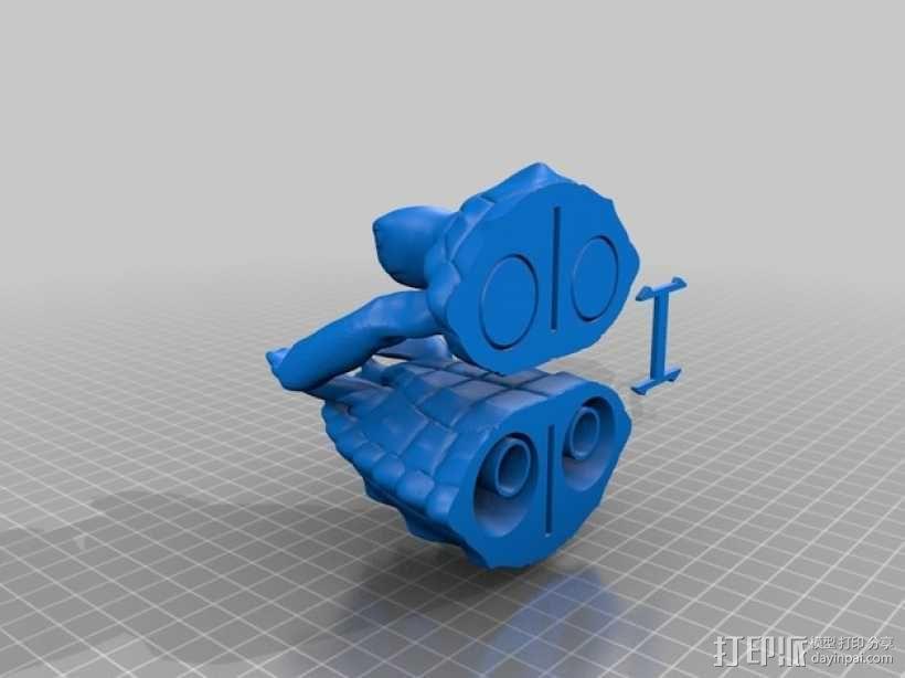 健壮的海龟 3D模型  图3