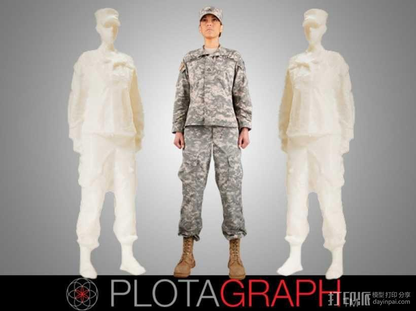 女兵 写实人物 3D模型  图1