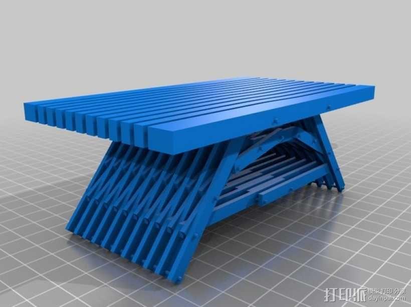 积木桌 3D模型  图1