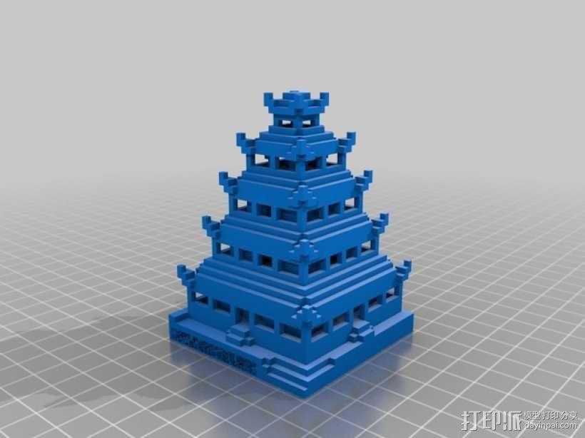 日本佛塔 3D模型  图1