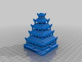 日本佛塔 3D模型