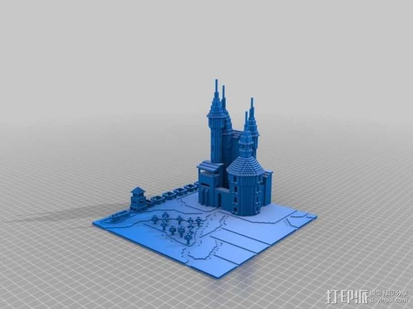 我的世界城堡 3D模型  图1