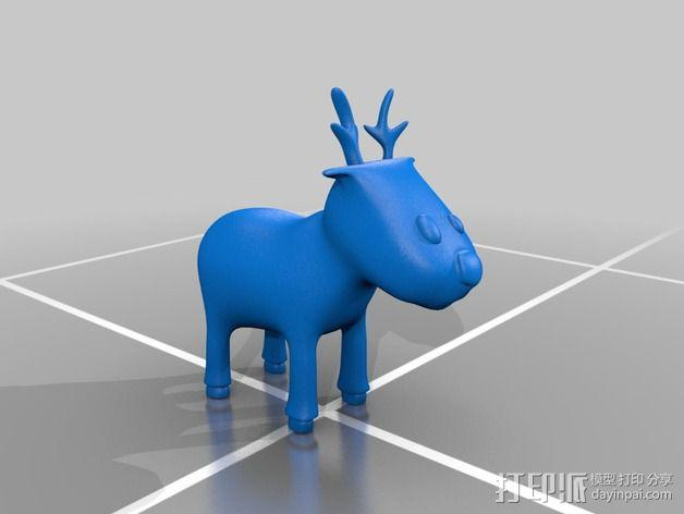 卡通驯鹿 3D模型  图2