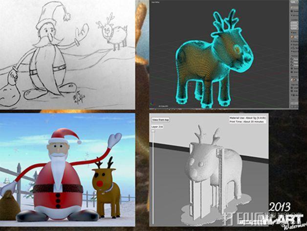 卡通驯鹿 3D模型  图3