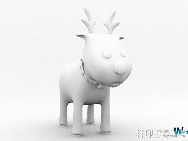 卡通驯鹿 3D模型  图5