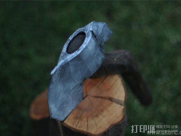 短柄小斧头 3D模型  图2