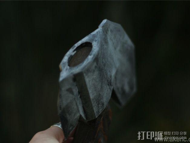 短柄小斧头 3D模型  图3