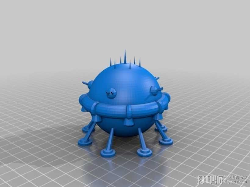 Arkon太空飞船 3D模型  图1