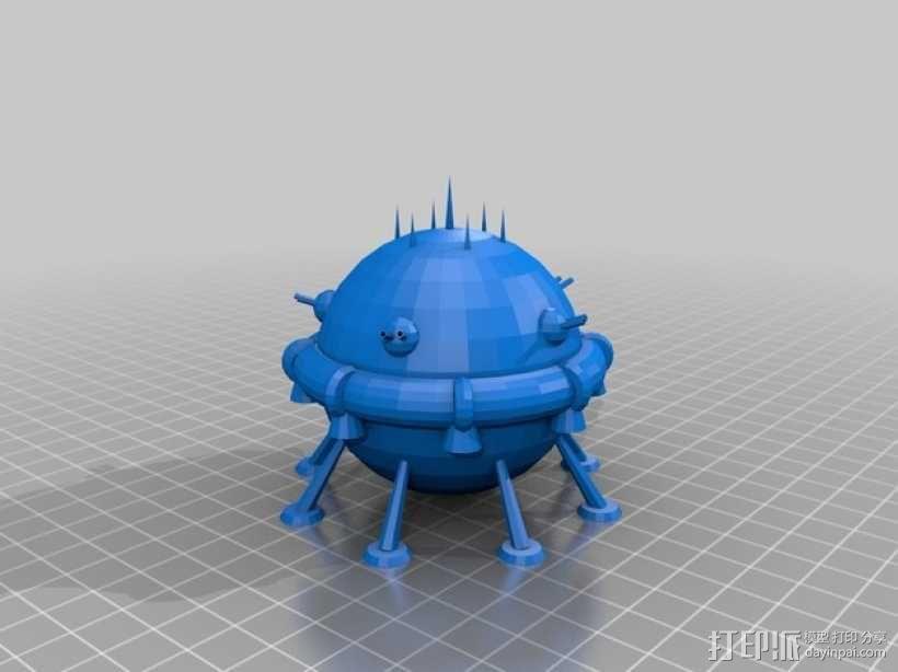 Arkon太空飞船 3D模型  图7