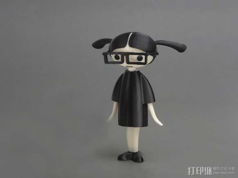 Carla 小玩偶 3D模型  图1