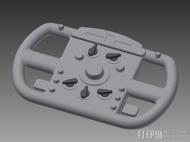F1赛车方向盘 3D模型  图2