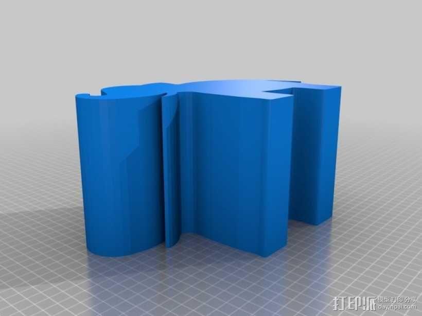 大象礼物盒 3D模型  图2