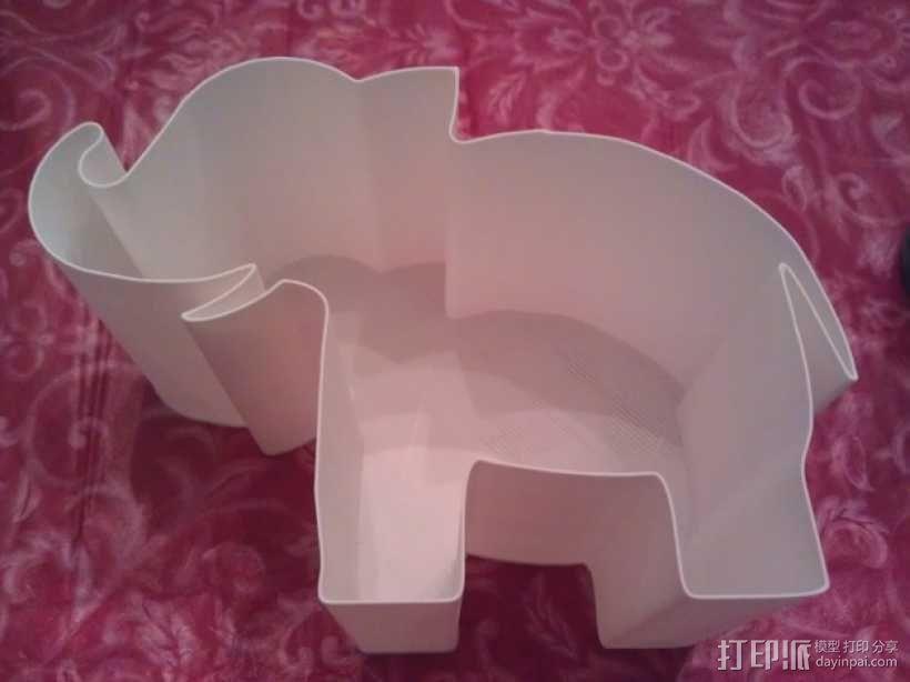 大象礼物盒 3D模型  图3